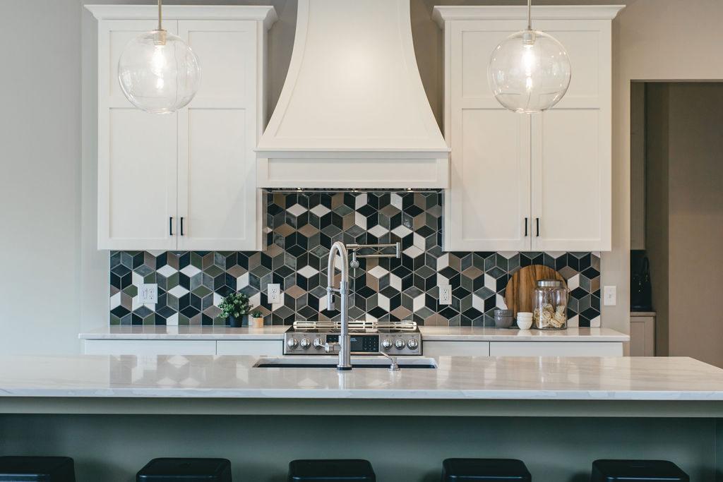 white custom style kitchen